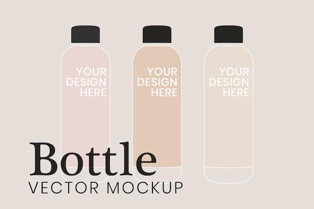 ボトルのモックアップ、製品のパッケージのベクトル図