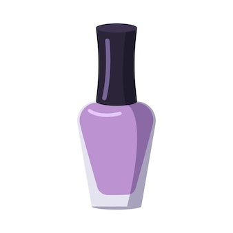 A bottle of nail polish. manicure tools. caring for the health of hands and nails. beauty salon icons. vector flat illustration.