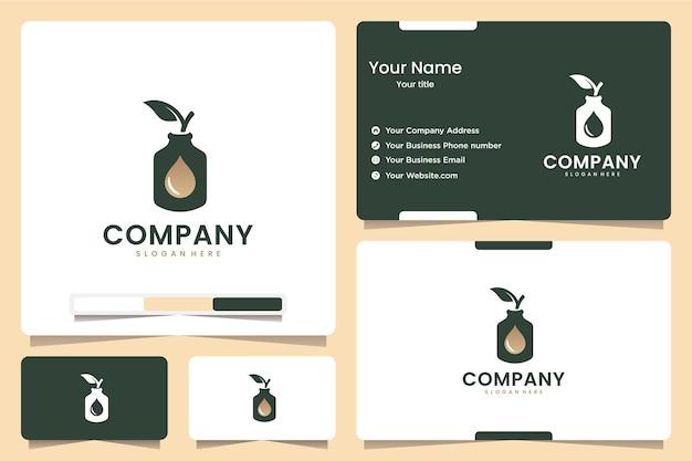 ボトルの自然な健康、ロゴデザインのインスピレーション
