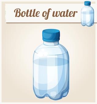 Бутылка воды подробные векторные иконки