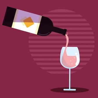Бутылка вина с чашкой
