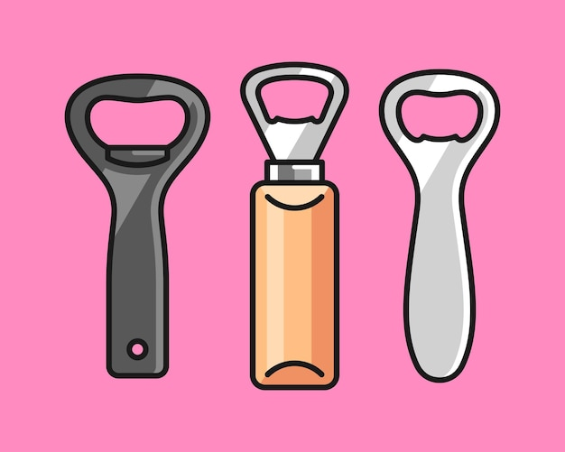 Открывалка для бутылок иллюстрации шаржа