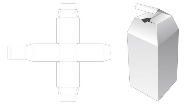 Modello fustellato scatola confezione bottiglia