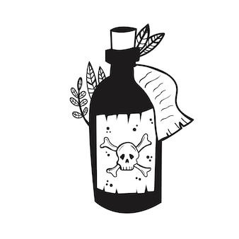 A bottle of poison witchs potion