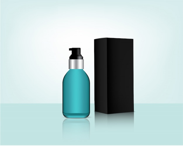 Бутылочный насос реалистичная органическая косметика и коробка для ухода за кожей