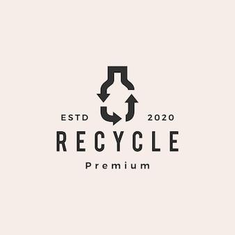 Bottle recycle hipster vintage logo