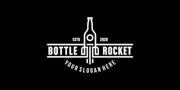 Шаблон символа символа эмблемы ракеты бутылки