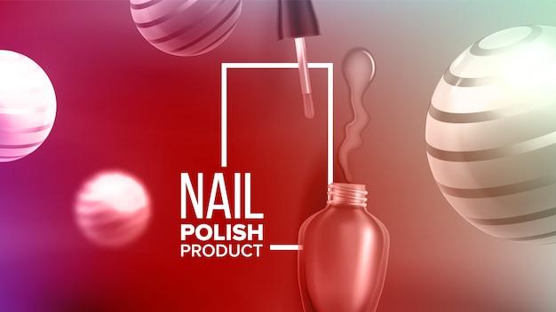 Bottle of rose nail polish product banner