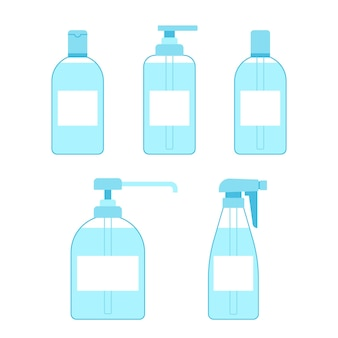 Bottle set hand sanitizer antiseptic antibacterial gel spray container of cleaner disinfection