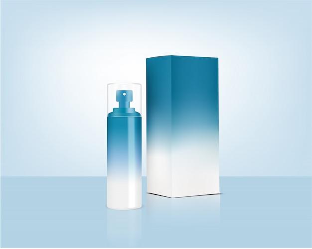 Реалистичная органическая косметика и спрей для бутылочек для ухода за кожей