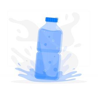 Bottle of water concept illustration