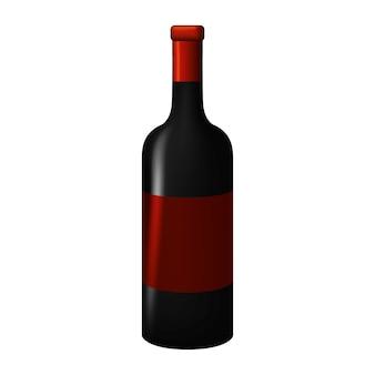 Bottle of wine tasty beverage icon