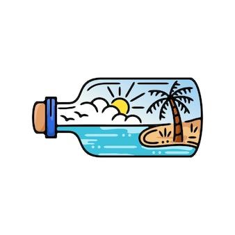 ビーチビューモノライン付きボトル