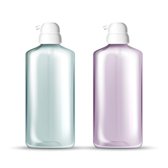 Bottle with pump for hygienic hands gel