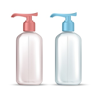 Bottle with pump for hygienic liquid soap