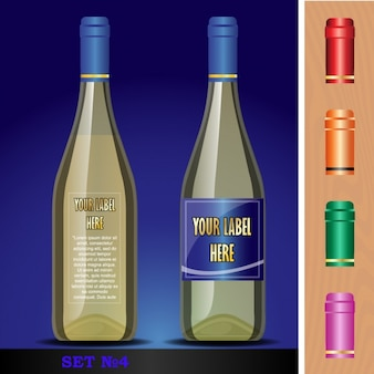 Bottiglia con capsula rossa
