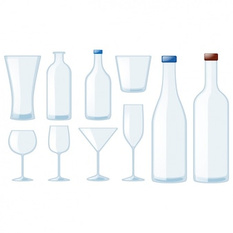 Bottles and glasses collection