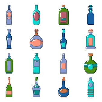 Bottles icons set