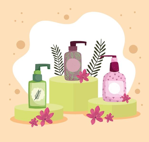 美容製品のボトル