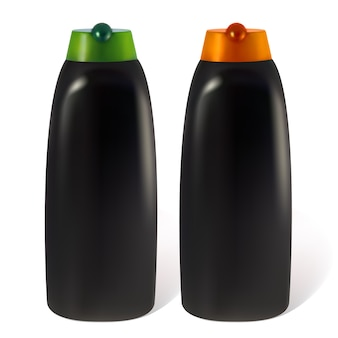 男性用シャンプーまたはローションのボトル