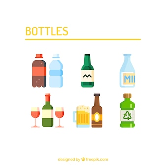 Bottles vector set