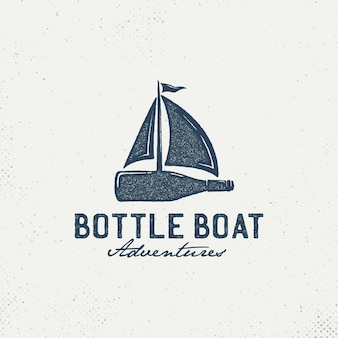 Bottles with sailboats