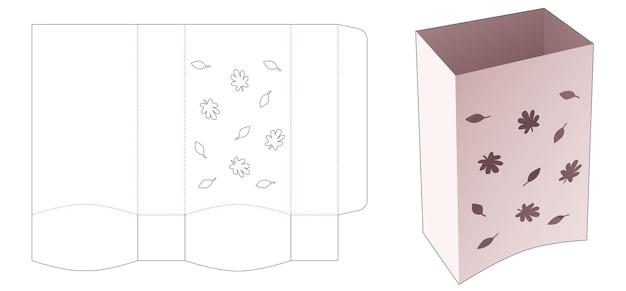 스텐실 가을 다이 컷 템플릿이 있는 바닥 곡선 그릇