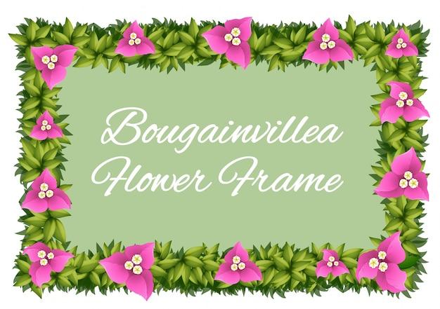 フレームデザインとしてのブーゲンビリアの花