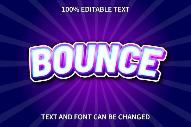 Bounce editable text effect comic style