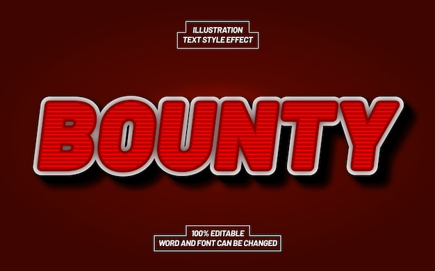 Bounty bold text style effect