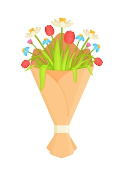 白の花の花束 Premiumベクター