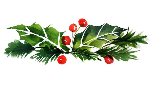 Букет новогодней елки и падуба