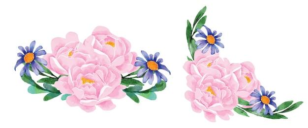 꽃다발 모란 꽃