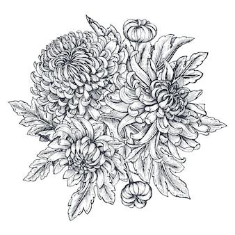 菊の花の花束