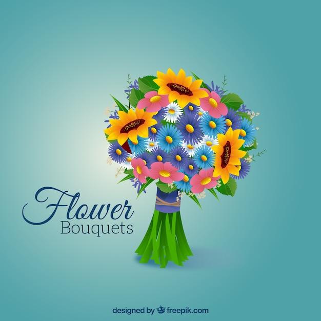 Букет с различными цветами