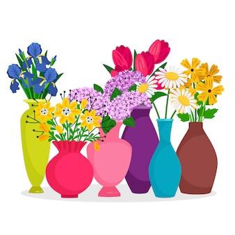 花瓶の組成で花の花束