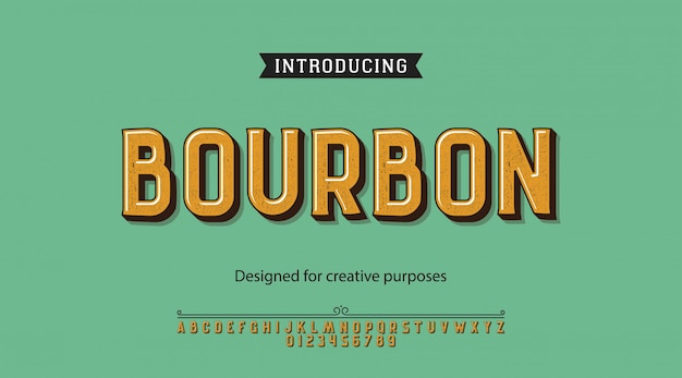 Bourbon typeface.for labels and different type designs