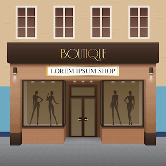 Boutique building illustration