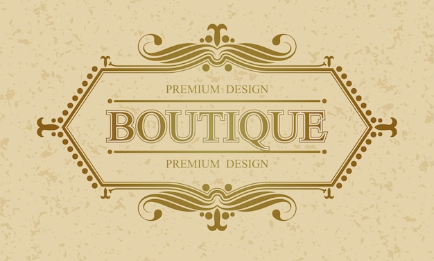 Boutique calligraphic border