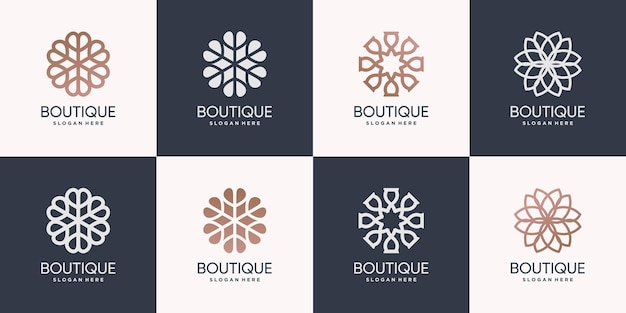 Набор с логотипом бутика premium векторы