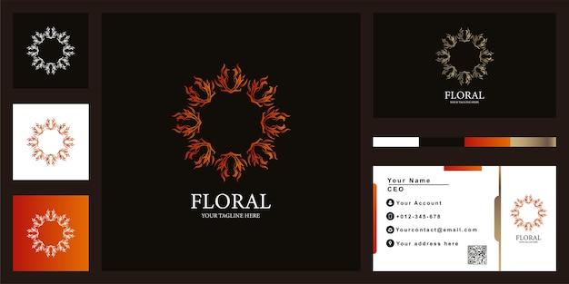 名刺でブティックや装飾品の豪華なロゴのテンプレートデザイン。