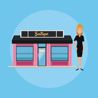 Boutique store and businesswoman