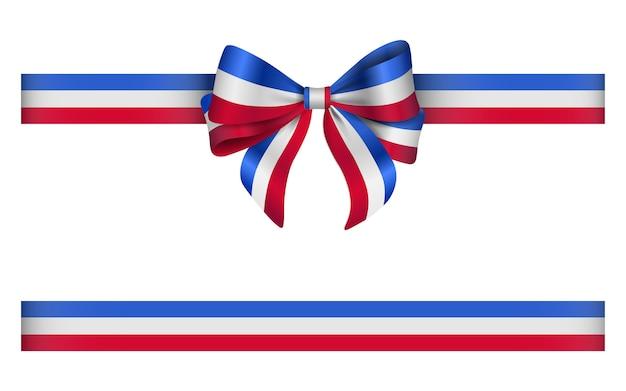 프랑스 국기 색상으로 활과 리본