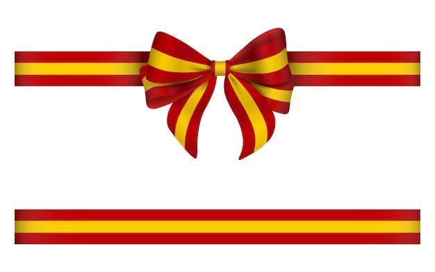 스페인 국기 색 활과 리본