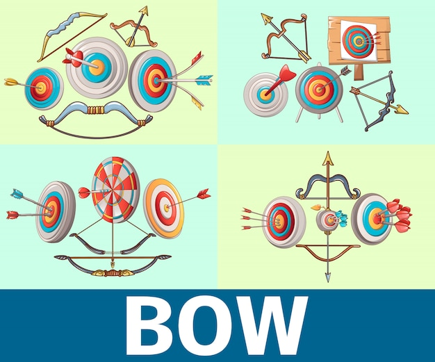 Bow pattern seamless, cartoon style