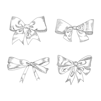 Bow sketch isolation on white