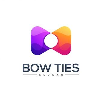 蝶ネクタイのロゴデザインベクトル抽象