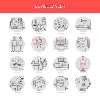 Bowel cancer icons