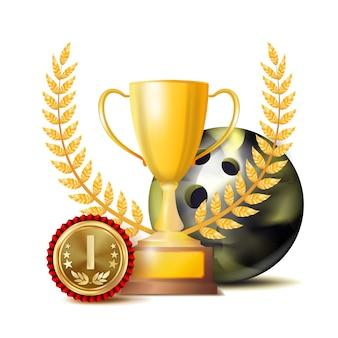 Bowing achievement award vector