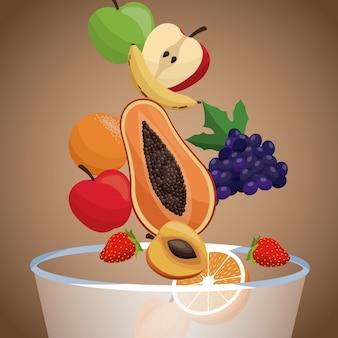 ボウルフルーツ健康的な食事